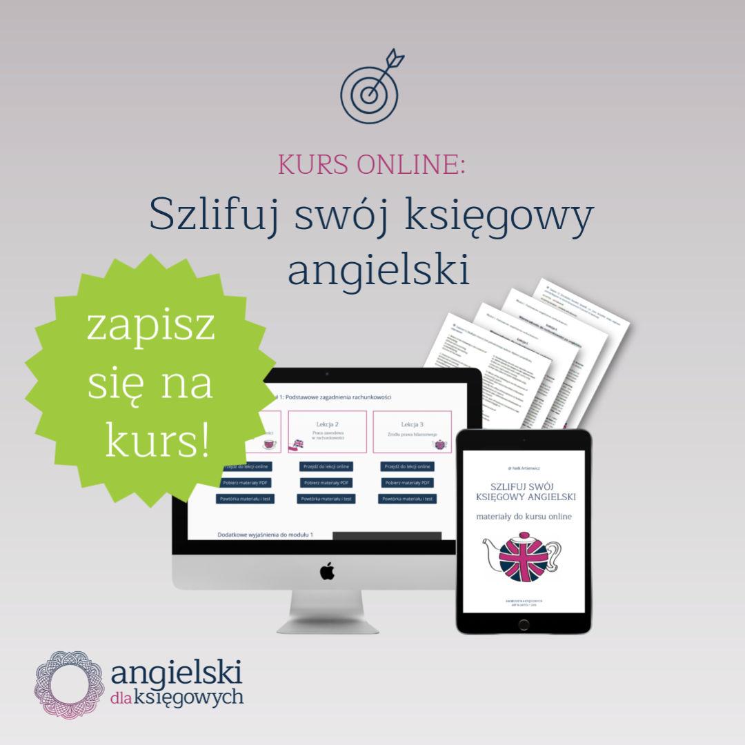 ćwiczenia online księgowy angielski